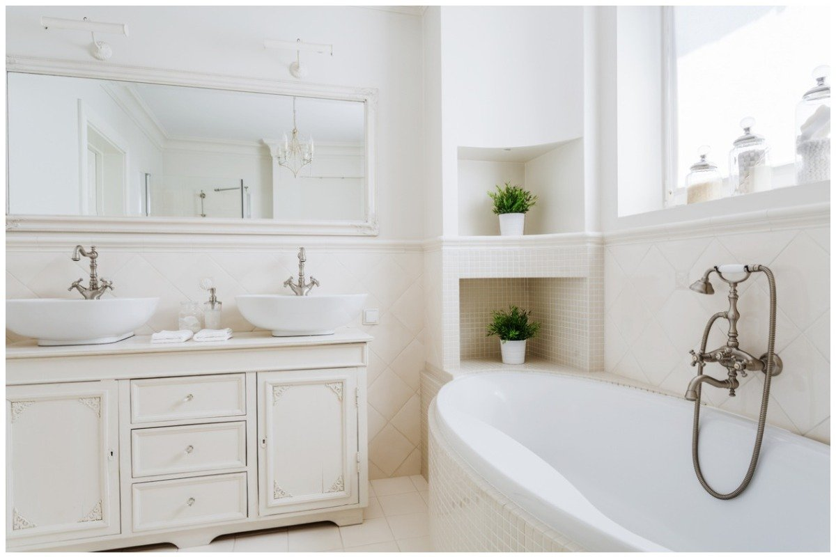 clean bathroom - 20 Easy DIY Home Projects to Spruce up Your Space