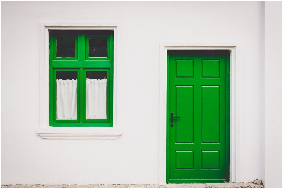 green front door - 20 Easy DIY Home Projects to Spruce up Your Space