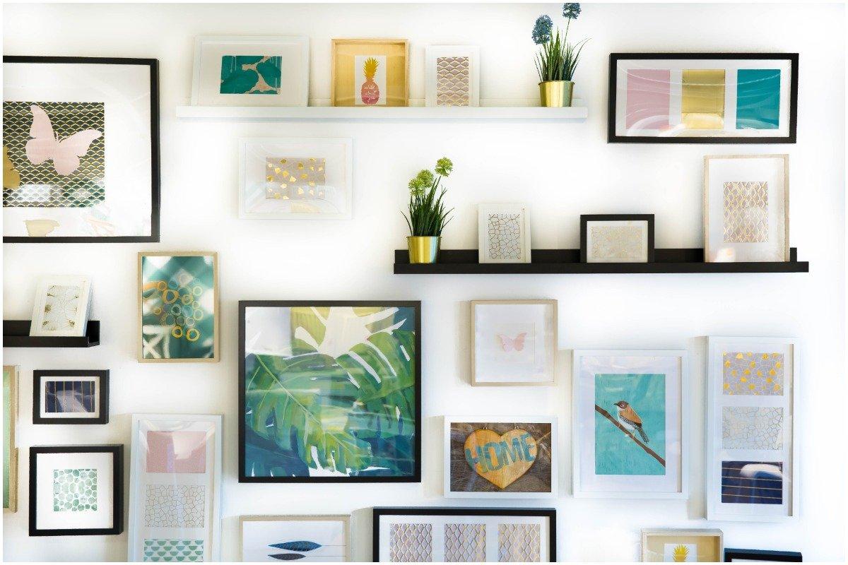 wall art - 20 Easy DIY Home Projects to Spruce up Your Space