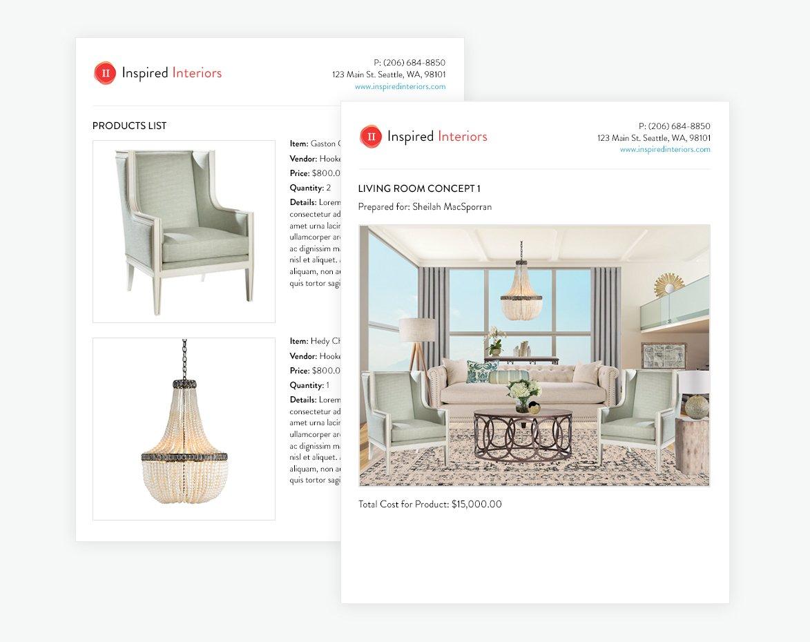 Presentation to client - Design