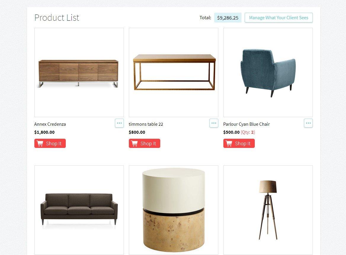 Product List - Design